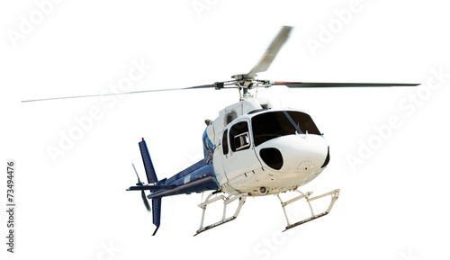Foto op Canvas Helicopter Helicopter with working propeller