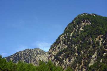 Rocky peak on the island of Crete, Greece.