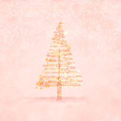 Christmas Tree,  may be used as a back cover Christmas card.