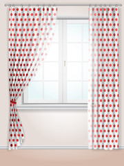 polka dots curtains