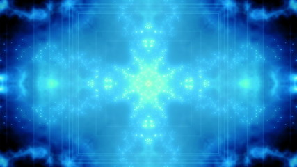 VJ Blue Particle Abstract Looping Animated Background