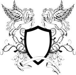 heraldic unicorn coat of arms crest shield5