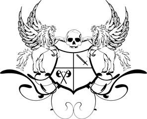 heraldic unicorn coat of arms crest shield4