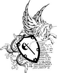 heraldic unicorn coat of arms crest shield
