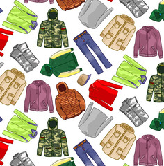 Motif vêtement hiver