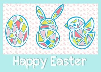 Easter eggs pattern vector