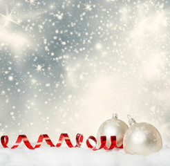 abstract Christmas background wity christmas decorations
