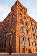Restored old factory in city of Lodz, Poland