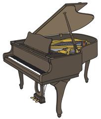 Opened grand piano