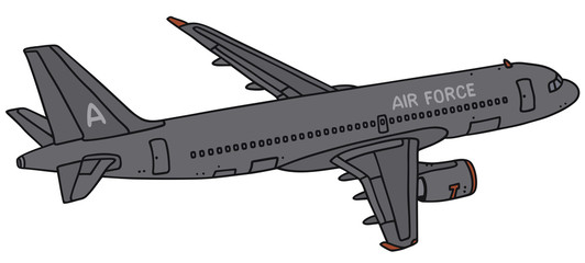 Hand drawing of a military transport jet - not a real type