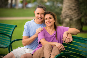 Couple enjoying a beautiful day at the park