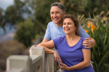 Healthy elder couple having a romance