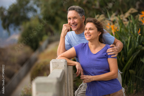 Tuinposter Vissen Portrait of an in love senior couple
