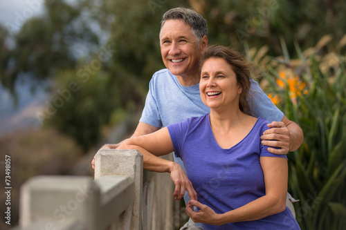 Poster Ontspanning Healthy elder couple having a romance