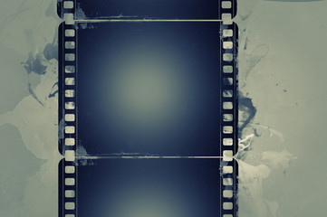 Grunge film frame with space for text or image
