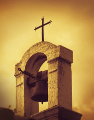 Old Mediterranean Church top, artistic toned