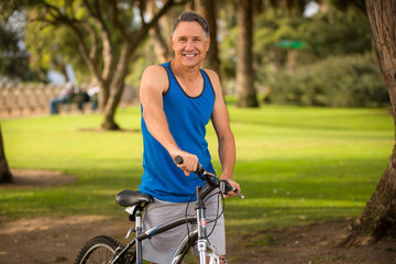 Athletic senior male
