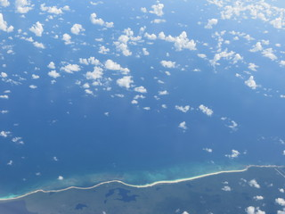 View from a plane. Belize.