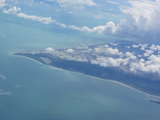 Belize. View from a Plane.