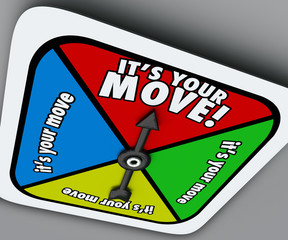 It's Your Move Game Spinner Compete Turn Progress Forward