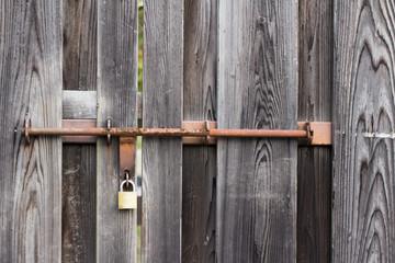 Old style Vigtage orange iron bolt /key lock the wood door