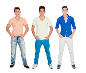 Three casual young men