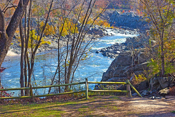 Scenic overlook on Potomac River in Great Fall National Park