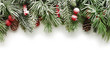 Leinwanddruck Bild - Christmas tree branches background