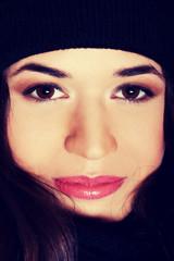 Beautiful womna's face.