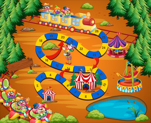 Clown circus game