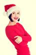 Happy santa woman