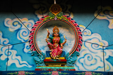 Hindu God in Indian Temple