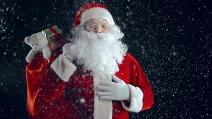 Santa in Snow