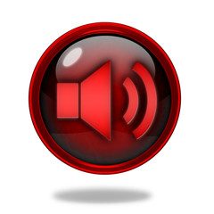 volume circular icon on white background