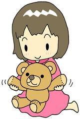 熊のぬいぐるみ 女の子