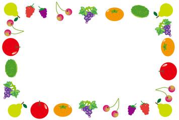 可愛いフルーツ果物のフレーム枠