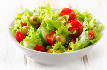 Bowl of Fresh  vegetables salad