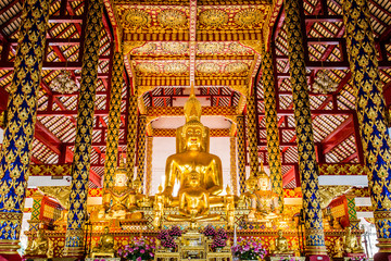 buddha statue wat suandok chiangmai Thailand.