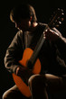 Acoustic guitar player guitarist Classical concert playing