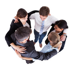 Multiethnic Businesspeople Forming Huddle