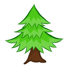 Christmas tree isolated illustration