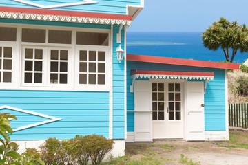 maison créole avec vue sur mer
