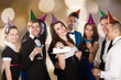 Happy Friends Celebrating Birthday At Nightclub