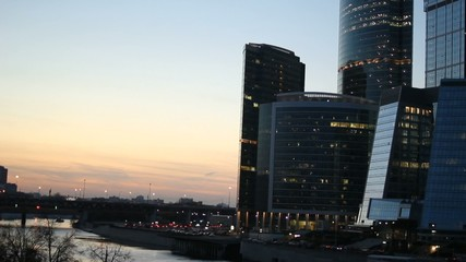 the skyscrapers of Moscow