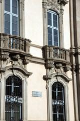 Milan - Corso Magenta street signal on Palazzo Litta facade