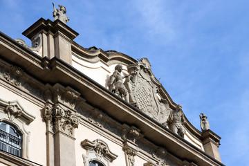 Milan - Palazzo Litta, coat of arms on the baroque facade