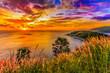 Leinwanddruck Bild - Nice sunset
