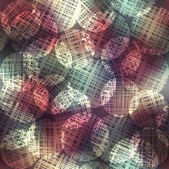Glow of circles geometric pattern.