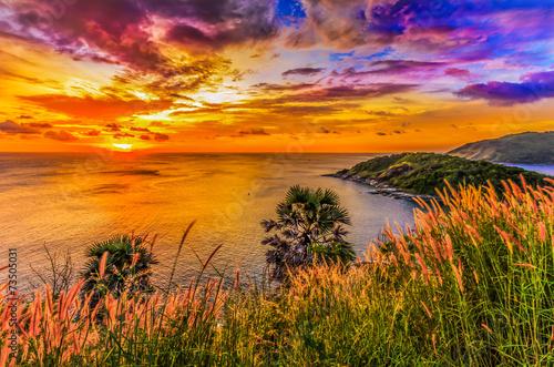 Leinwanddruck Bild Nice sunset