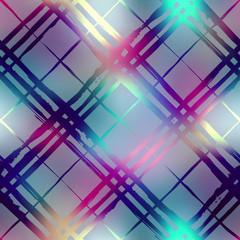 Diagonal plaid on blur background